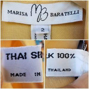 Vintage Tops - Vtg Marissa Baratelli Embellished Thai Silk Blouse